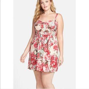 NWT Jessica Simpson Avette Floral Print Sundress
